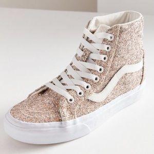 Vans Chunky Glitter SK8-HI Reissue Sneakers Size 8